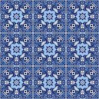 Portuguese azulejo tiles. Seamless patterns.