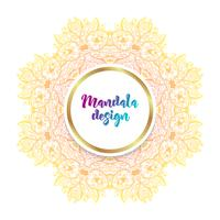 Mandala banner, Indian style. vector