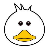 Cute Duck Vector.