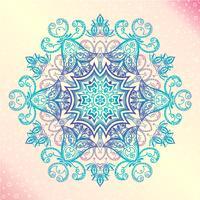 Mandala. Blom tappning rund amulett tatuering