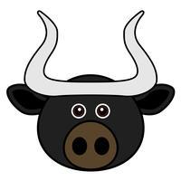 Cute Bull Vector.