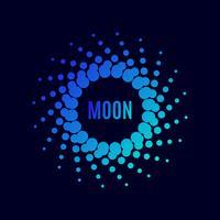 poster Luna. halftone