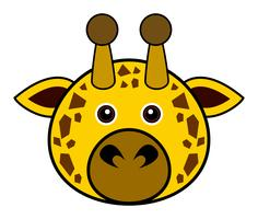 Cute Giraffe Vector.
