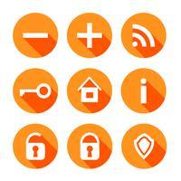 iconos web vector