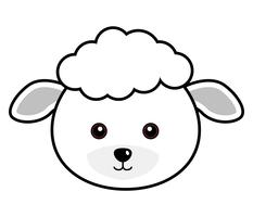 Cute Sheep Vector.