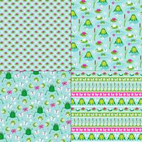 frog and lily pad patterns