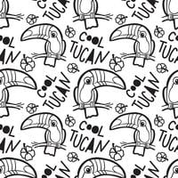 Tropical toucan Seamless pattern.