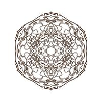 Mandala. Vintage decoratief element.