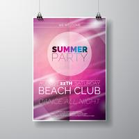 Vector Party Flyer poster template on Summer Beach theme
