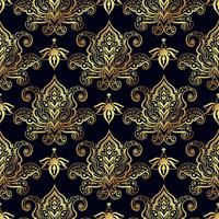 Seamless patterns of Russian motives of northern painting vector