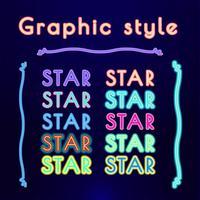 NEON Retro grafiska stilar