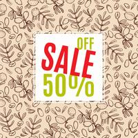 Sale of eco-style. Banner.