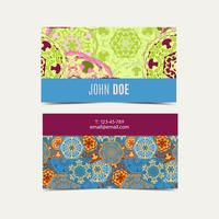 Template business cards pattern with Islamic morocco pattern.