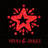 Merry  bright xmas greeting card