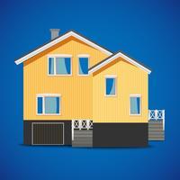 vektor privat hus