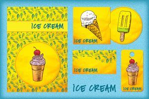 design template with ice cream.