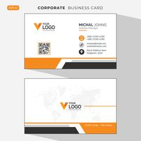 Orange elegant corporate business card