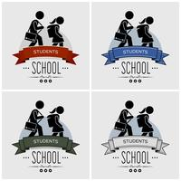 Back to school logo design.
