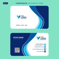 Blue elegant corporate card Free Psd