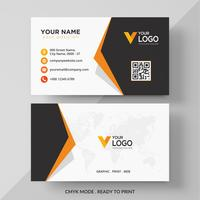 Orange elegant corporate business card design