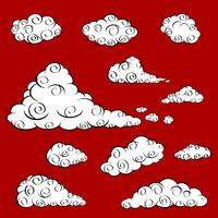 Cloud Vector set.