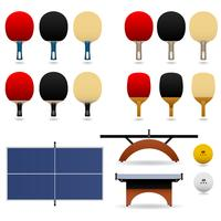 Table Tennis Set Vector.