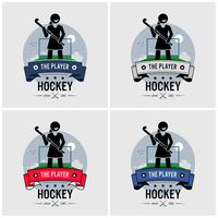 Hockey club logo ontwerp.