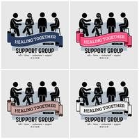 Support group centre logo design.