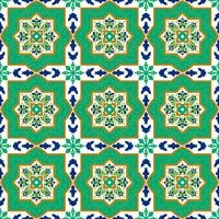 Spanish classic ceramic tiles. Seamless patterns.