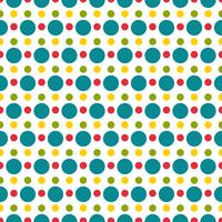 Colored polka dot seamless pattern