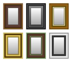 Frame Picture Photo Mirror.  vector