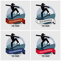 Skateboarder club logo design.