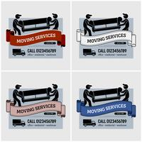 Moving services company logo design.