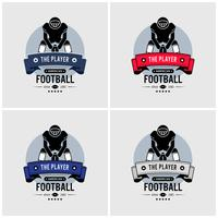 American football club logo ontwerp.