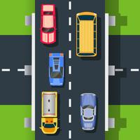 Top view of the road vector