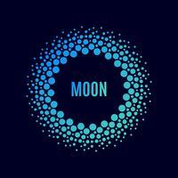 Poster Luna. Halbton