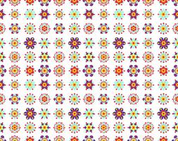 Seamless pattern of vintage yellow flowers.