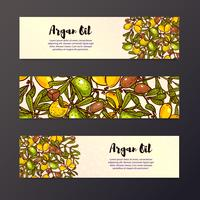 Oil background, eco flyers design layouts vector