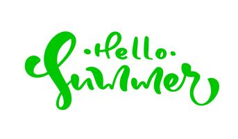 Calligraphy lettering phrase Hello Summer