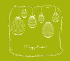 happy easter egg ornament. Floral Frame