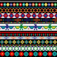 Native American beaded border patterns