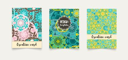Set ethnic cards, invitations, flyers, banners a4.