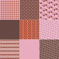 Rosa Orange Brown Owl Patterns