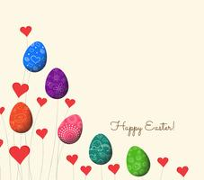 happy easter.realistic eggs background
