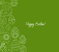 Fondo de ornamento de huevos de Pascua feliz