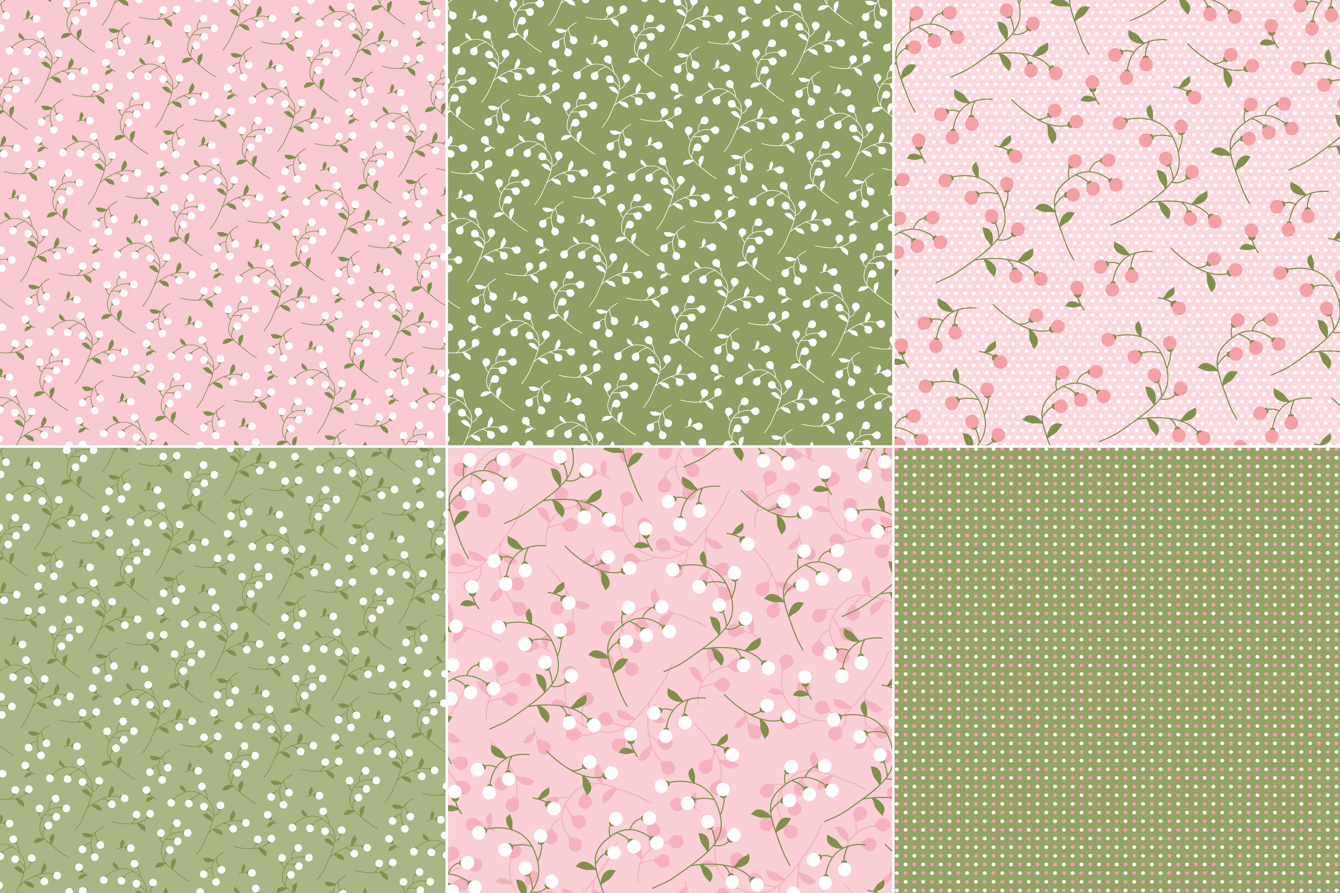 Pink Green Florals Polka Dots Download Free Vectors Clipart Graphics Vector Art
