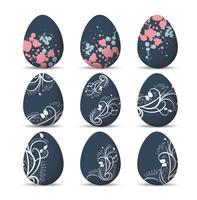 Ställ påskägg och lycklig påsk