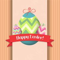 happy easter eggs greeting poster