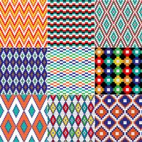 Seamless Tribal Bead Patterns