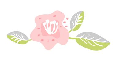 Cute vector isolated Flower on white background